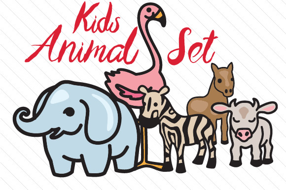 Kids Animal Set Kids Craft Cut File By Creative Fabrica Crafts - Image 1