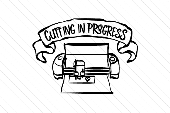 Cutting in Progress Craft Design By Creative Fabrica Freebies Image 1