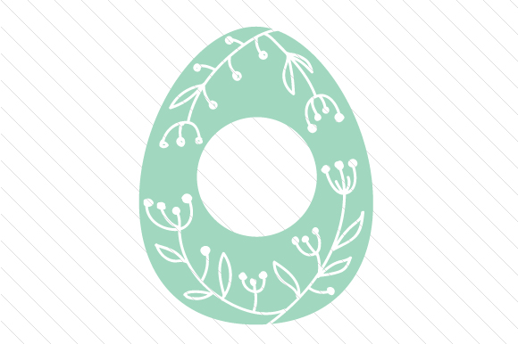 Easter Egg Monogram Frames Easter Craft Cut File By Creative Fabrica Crafts - Image 3