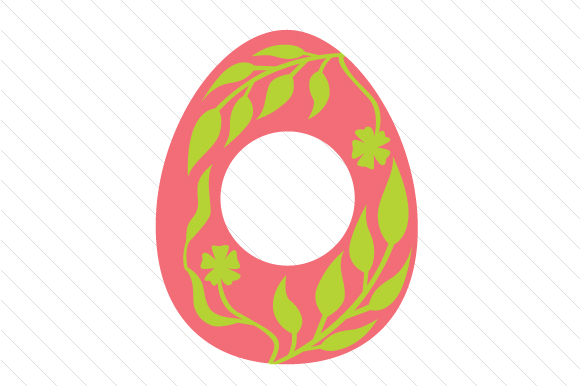 Easter Egg Monogram Frames Svg Cut File By Creative Fabrica