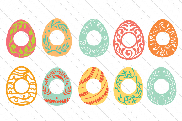 Easter Egg Monogram Frames Easter Craft Cut File By Creative Fabrica Crafts