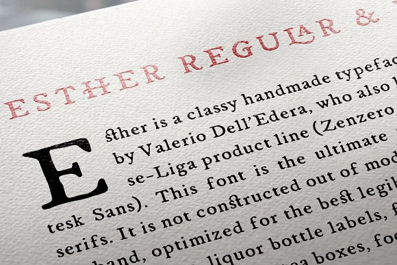 Print on Demand: Esther Serif Font By Hederae Type Foundry - Image 2