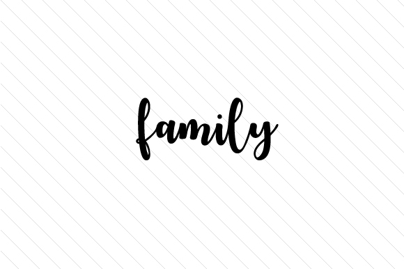 Family Word Art Craft Cut File By Creative Fabrica Crafts - Image 1