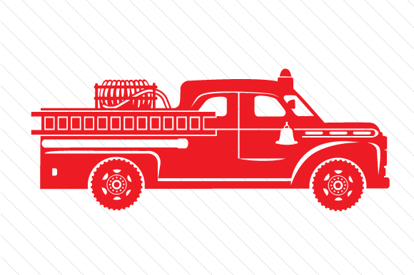 Fire Truck Design Plotterdesign von Creative Fabrica Crafts