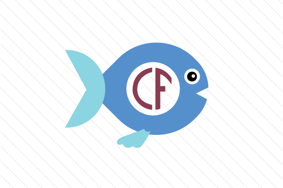 Download Free Fish Monogram Frame Svg Cut File By Creative Fabrica Crafts for Cricut Explore, Silhouette and other cutting machines.