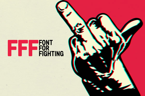 Print on Demand: Font for Fighting Sans Serif Font By Andrea Gaspari