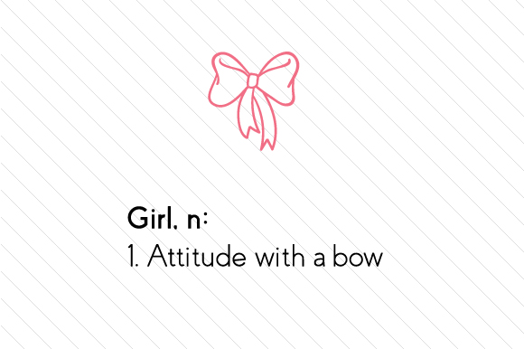Download Free Girl N 1 Attitude With A Bow Svg Cut File By Creative Fabrica Crafts Creative Fabrica for Cricut Explore, Silhouette and other cutting machines.