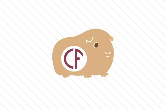 guinea pig monogram frame svg cut file by creative fabrica crafts