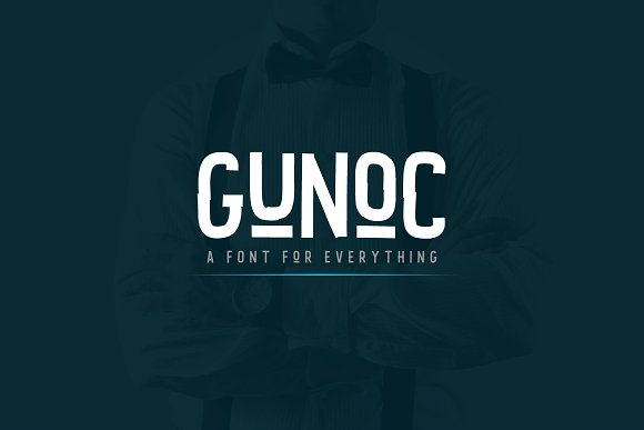 Print on Demand: Gunoc Display Font By Graphicfresh