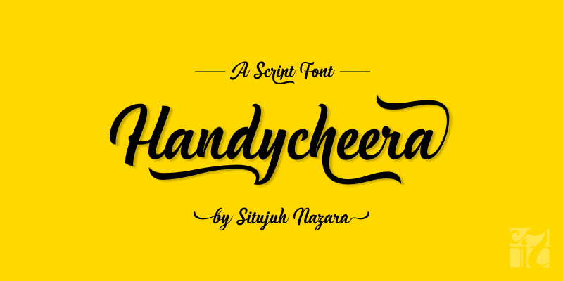 Print on Demand: Handycheera Script & Handwritten Font By Situjuh