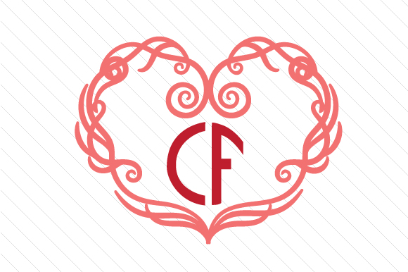 Download Free Heart Monogram Frame Set 4 Svg Cut File By Creative Fabrica SVG Cut Files