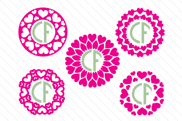 Download Free Heart Monogram Frame Set 1 Svg Cut File By Creative Fabrica for Cricut Explore, Silhouette and other cutting machines.