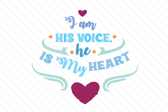 Download Free I Am His Voice He Is My Heart Svg Cut File By Creative Fabrica for Cricut Explore, Silhouette and other cutting machines.