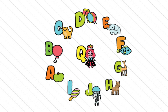 Kids Picture Alphabet Kids Craft Cut File By Creative Fabrica Crafts - Image 2