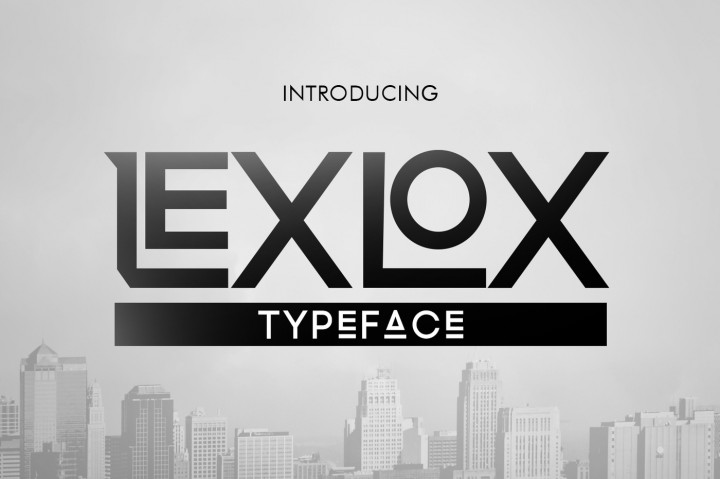 Print on Demand: Lexlox Display Font By Khurasan