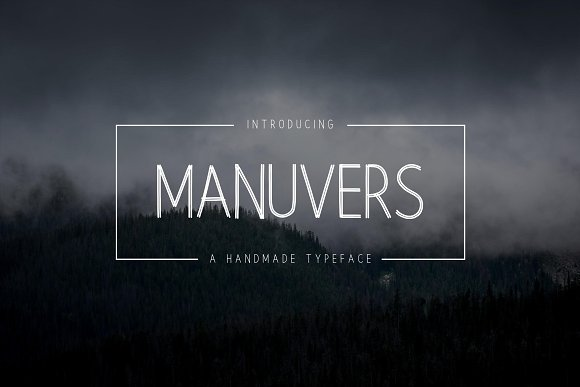 Print on Demand: Manuvers Sans Serif Font By Graphicfresh