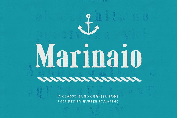 Print on Demand: Marinaio Display Font By Hederae Type Foundry