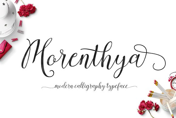 Print on Demand: Morenthya Script & Handwritten Font By Area Type