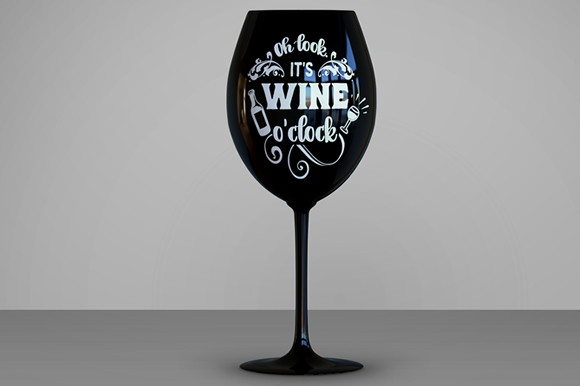 Oh Look, It's Wine O'clock Craft Design By Creative Fabrica Freebies Image 3