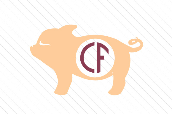 Pig Monogram Frame SVG Cut file by Creative Fabrica Crafts ...
