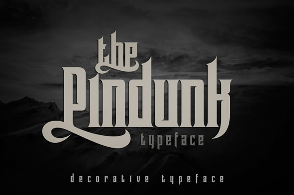 Print on Demand: Pindunk Blackletter Font By tamaputra
