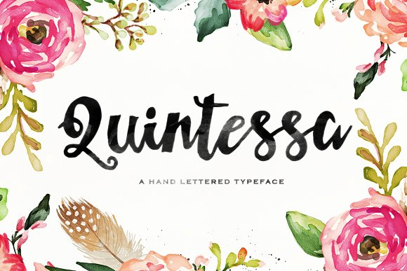 Print on Demand: Quintessa Script & Handwritten Font By Area Type