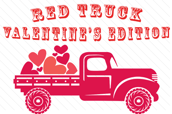 The Red Truck - Valentine's Edition Craft Design By Creative Fabrica Freebies