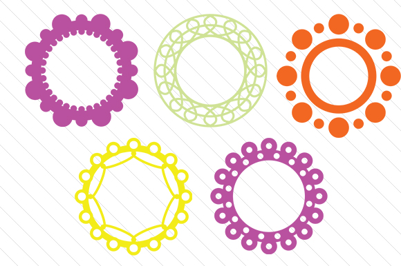 Set with 5 Circle Monogram Frames Monogram Frames Craft Cut File By Creative Fabrica Crafts