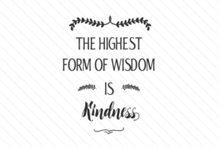 the-highest-form-of-wisdom-is-kindness