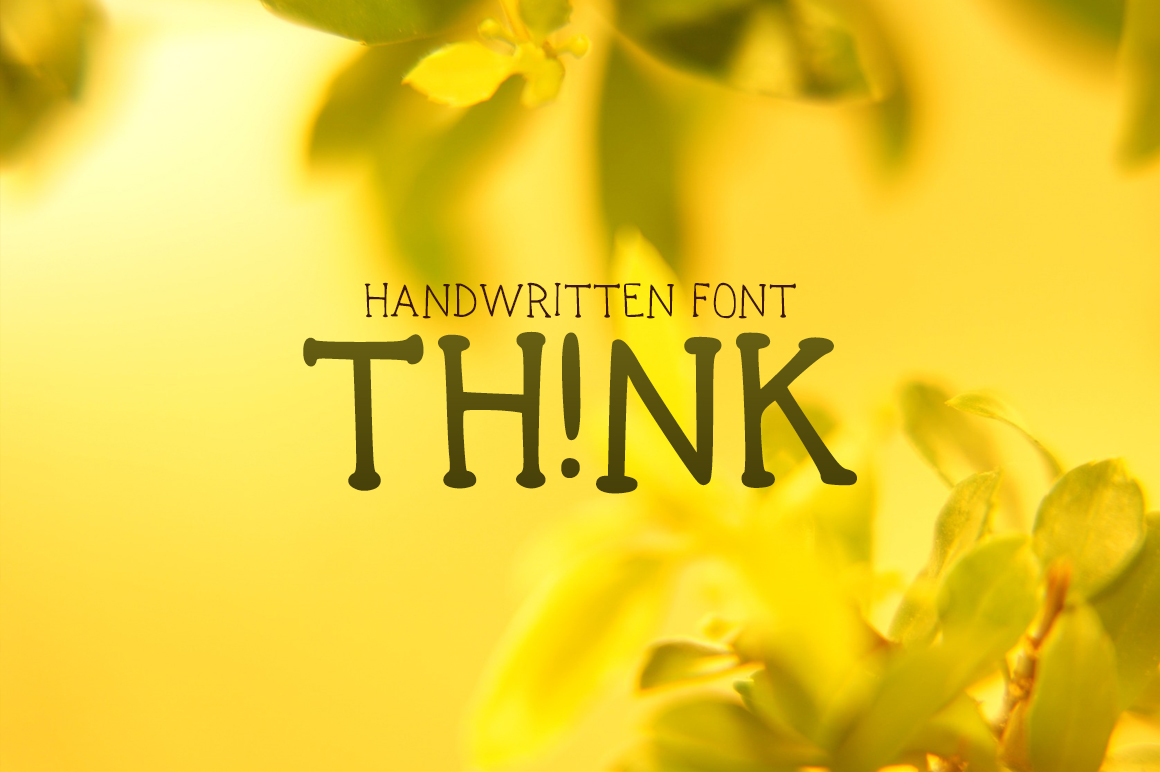Print on Demand: Think (TH!NK) Display Font By Carolina Valtuille