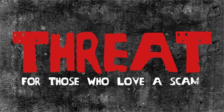 Print on Demand: Threat Display Font By GraphicsBam Fonts