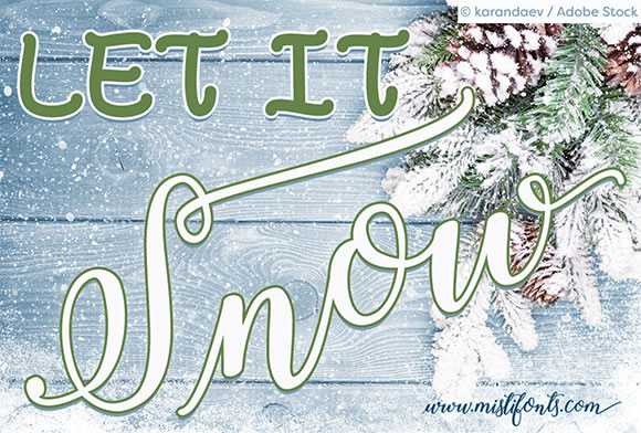Print on Demand: Winter Calligraphy Script & Handwritten Font By Misti - Image 3
