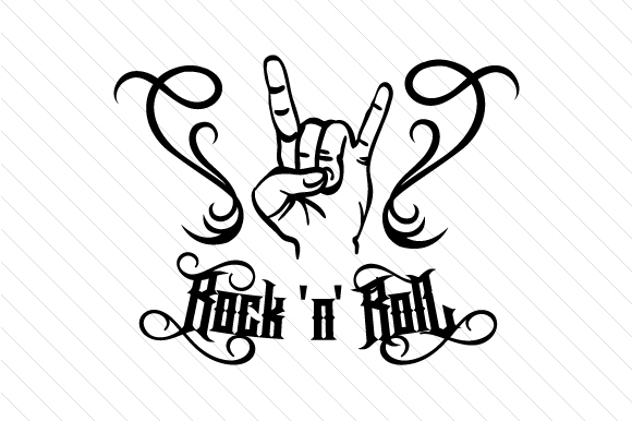 Rock 'n' Roll Music Craft Cut File By Cut Cut Palooza