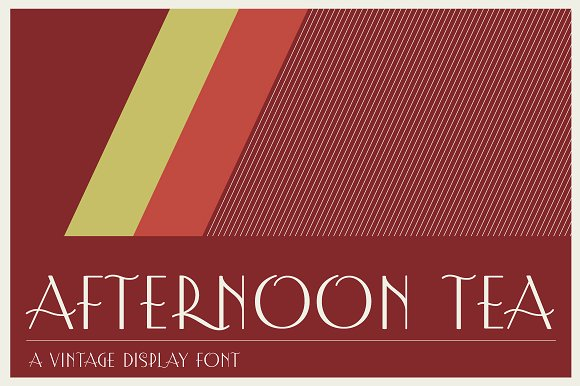 Print on Demand: Afternoon Tea Display Font By Good Gravy Type