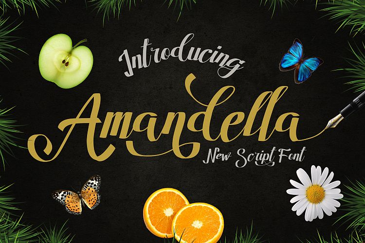 Print on Demand: Amandella Script Script & Handwritten Font By madeDeduk