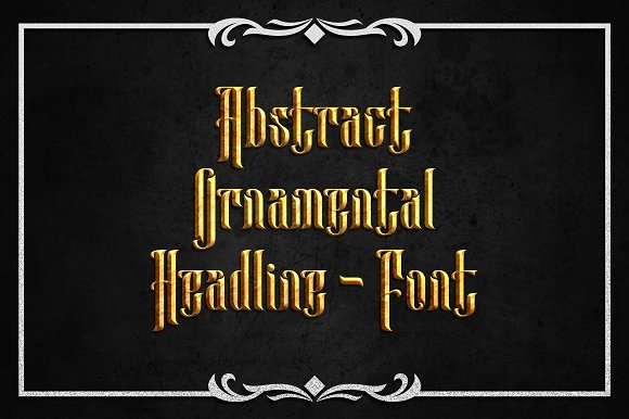 Print on Demand: Anehena Blackletter Font By Arterfak Project - Image 2