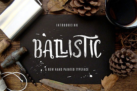 Print on Demand: Ballistic Display Font By Thirtypath