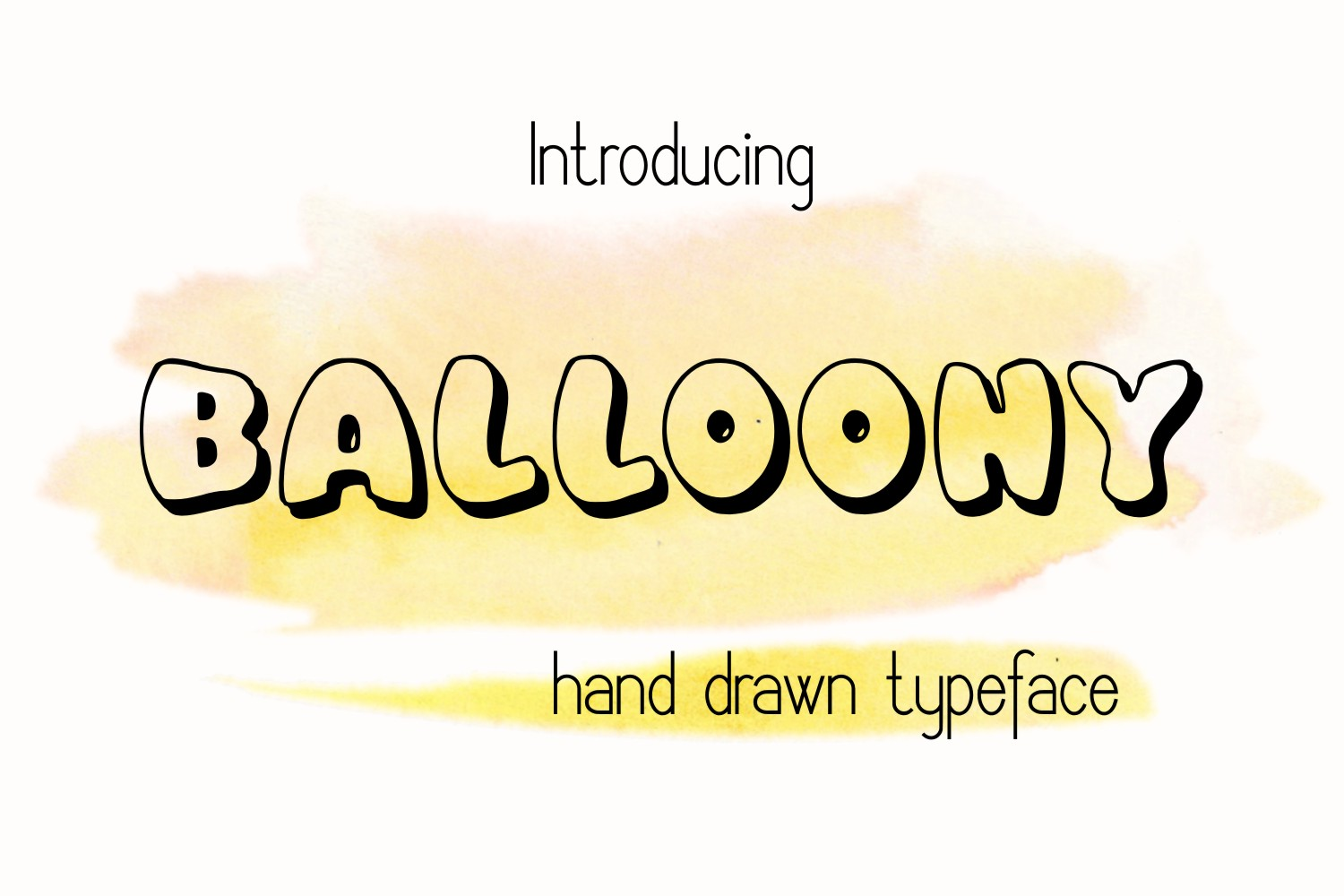 Print on Demand: Balloony Decorative Font By Eva Barabasne Olasz - Image 1