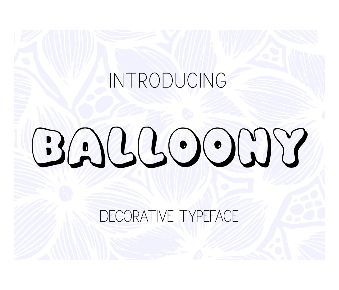 Print on Demand: Balloony Decorative Font By Eva Barabasne Olasz - Image 2