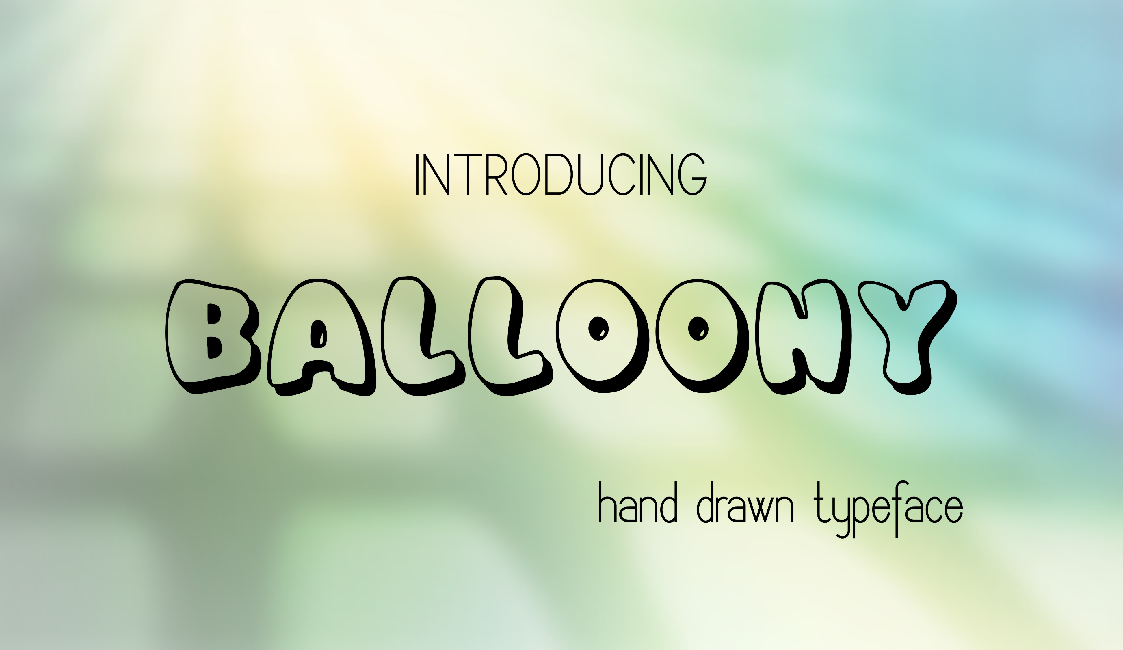 Balloony Decorative Font By Eva Barabasne Olasz