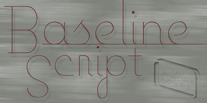 Print on Demand: Baseline Script Script & Handwritten Font By Rocket Type