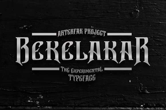 Print on Demand: Bekelakar Blackletter Font By Arterfak Project