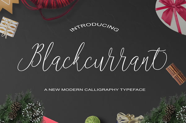 Print on Demand: Blackcurrant Script & Handwritten Font By Polem