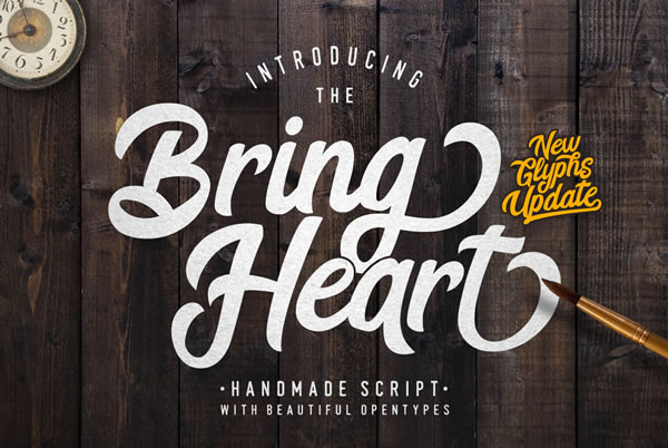 Print on Demand: Bring Heart Script & Handwritten Font By Lettersiro Co.