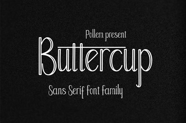 Print on Demand: Buttercup Sans Serif Font By Polem