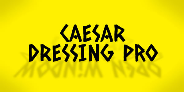 Print on Demand: Caesar Dressing Pro Display Font By Good Gravy Type