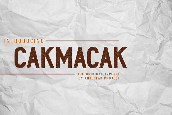 Print on Demand: Cakmacak Sans Serif Font By Arterfak Project