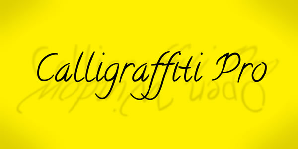 Print on Demand: Calligraffiti Pro Script & Handwritten Font By Rocket Type