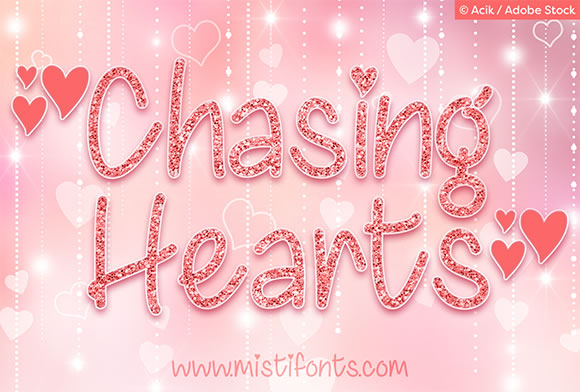Print on Demand: Chasing Hearts Script & Handwritten Font By Misti