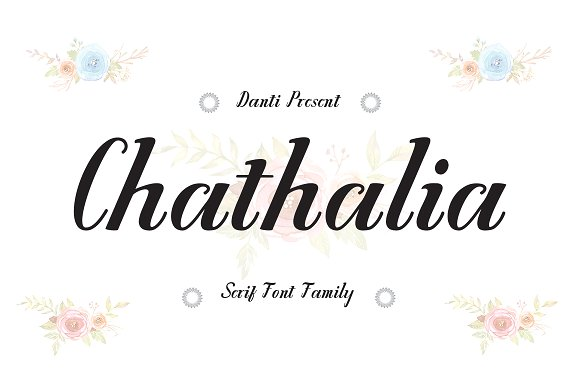Print on Demand: Chathalia Serif Font By Danti